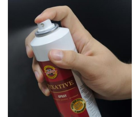 Fixativ sprej je ochranný lak na kresby a fotografie, které chrání před rozmazáním a blednutím.