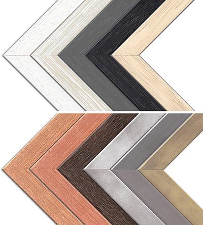 Ozdobné dřevěné rámy Arco pro fotoobrazy na plátně